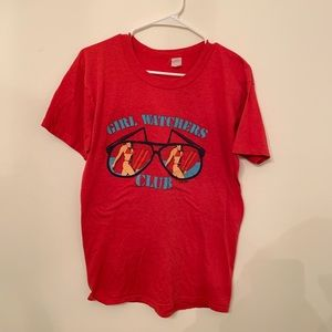 Other - Vintage girl watcher graphic t shirt